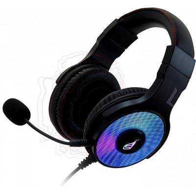Auriculares gaming con micrófono surefire harrier 360/ usb/