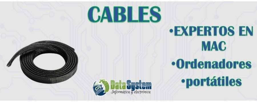 Cables: Cables de alimentación y Datos, Cables USB, Cables de Audio...